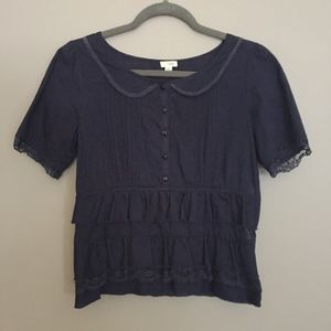 Anthropologie Odille Tiered Top